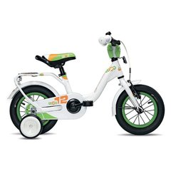 """Velosipēds meitenēm Scool niXe alloy 1 speed-white/green 12"""""""