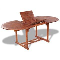 vidaXL dārza galds, 200x100x74 cm, akācijas masīvkoks cena un informācija | vidaXL dārza galds, 200x100x74 cm, akācijas masīvkoks | 220.lv