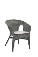 Плетеное кресло Kelek, серый /черный