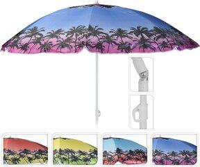 Pludmales lietussargs, palmas cena un informācija | Saulessargi, marķīzes un statīvi | 220.lv