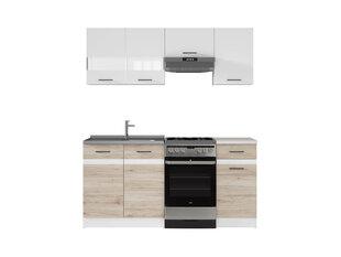 Набор кухонных шкафов Junona Line 170, белый / коричневый
