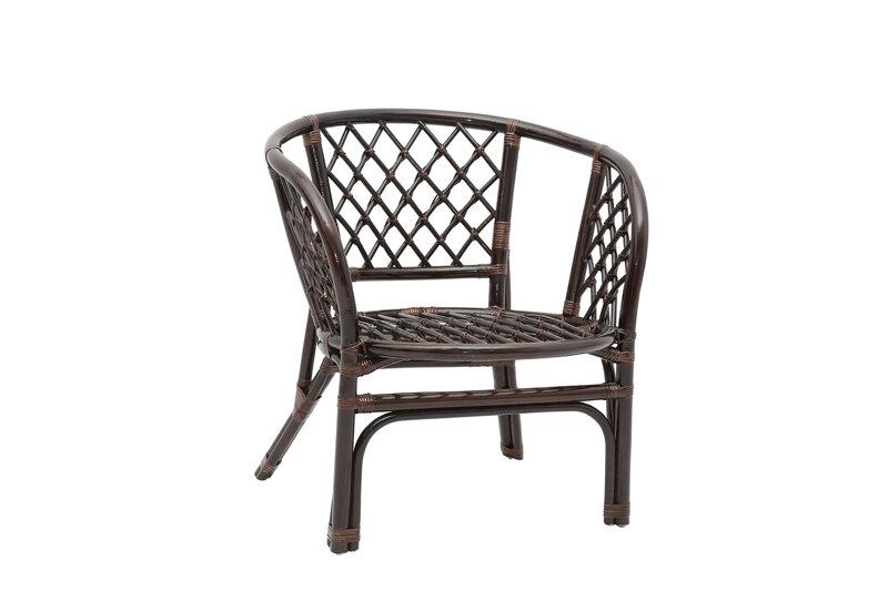 Pīts krēsls Bahama, tumši brūns