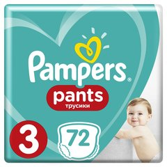 Autiņbiksītes PAMPERS Pants Giant Box, 3 izmērs 6-11 kg, 72 gab.