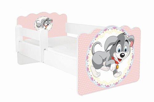 Gulta ar matraci un noņemamu aizsargmalu ALEX 50, 160x80 cm cena un informācija | Bērnu gultas | 220.lv