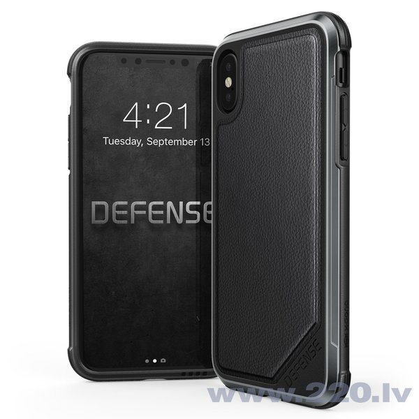 Apple iPhone X case Defence Lux by Xdoria Leather Black