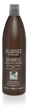 Matu šampūns ar šokolādi un keratīnu Allwaves 1000 ml cena un informācija | Šampūni | 220.lv