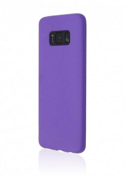Aizsargvāciņš Just Must Carbon, piemērots Samsung Galaxy S8 Plus telefonam, violets
