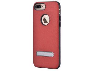 Aizsargvāciņš-statīvs DEVIA iStand piemērots Apple iPhone 7 Plus/8 Plus, sarkans