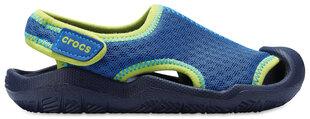 Crocs™ sandales zēniem Swiftwater Sandals, Blue Jean / Navy