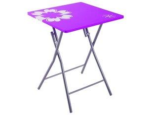 Saliekamais galds Patio Flower, violets cena un informācija | Dārza galdi | 220.lv