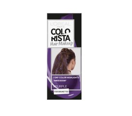 Pagaidu matu krāsa L'Oreal Paris Colorista Hair Makeup Purple
