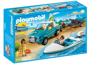 Конструктор 6864 PLAYMOBIL® Summer Fun, Сёрферы и машина