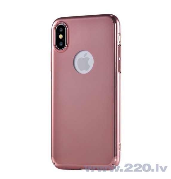 Aizsargmaciņš DEVIA Apple iPhone X Mirror Case Rose Gold