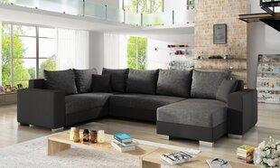 Mīksts stūra dīvāns Marco, pelēks / melns cena un informācija | Mīksts stūra dīvāns Marco, pelēks / melns | 220.lv