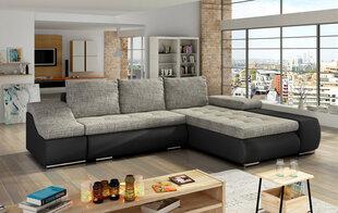 Ontario mīksts stūra dīvāns, smilšu/melns
