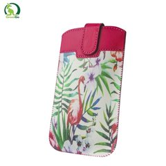 Telefona kabatiņa GreenGo Slim Up Flamingo Case XXXXL (Note 2), universāla
