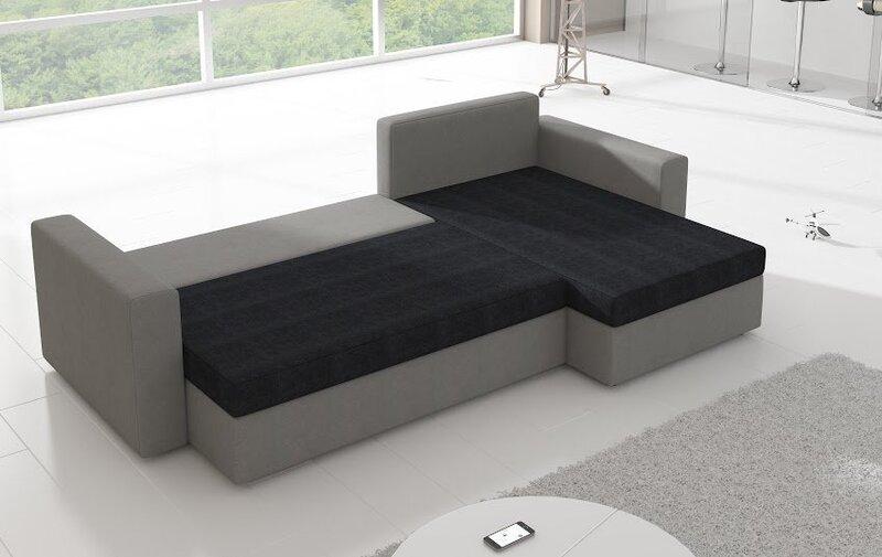 Universāls stūra dīvāns Livio, melns