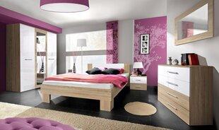 Guļamistabas mēbeļu komplekts Vicky 160, ozola krāsā/balts cena un informācija | Komplekti guļamistabai | 220.lv