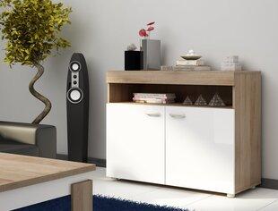 Комод Max 01, белый/дуб цена и информация | Комоды, ночные шкафчики | 220.lv