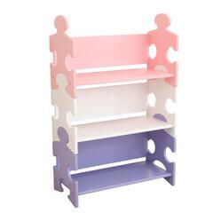 Plaukts Puzzle Kidkraft, balts/rozā/violets