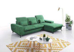 Mīksts stūra dīvāns Alta, zaļš