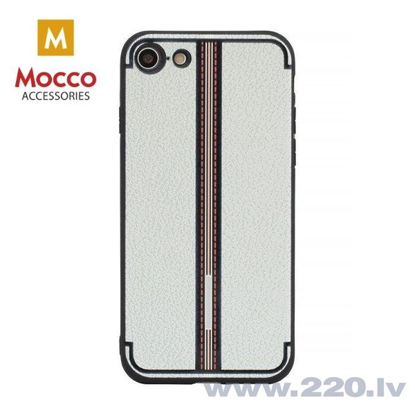 Aizsargmaciņš Mocco Trendy Grid And Stripes Silicone Back Case Samsung G955 Galaxy S8 Plus White (Pattern 3)