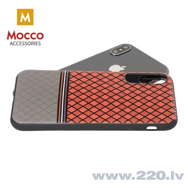 Aizsargmaciņš Mocco Trendy Grid And Stripes Silicone Back Case Apple iPhone 7 / 8 Red (Pattern 2) cena