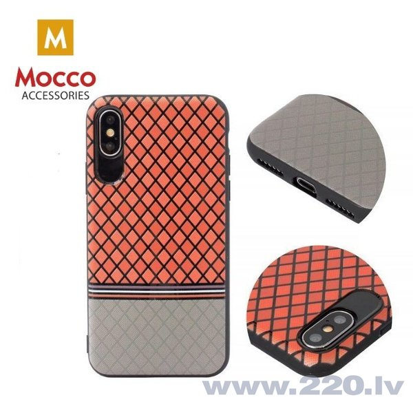 Aizsargmaciņš Mocco Trendy Grid And Stripes Silicone Back Case Apple iPhone 7 Plus / 8 Plus Red (Pattern 2) internetā