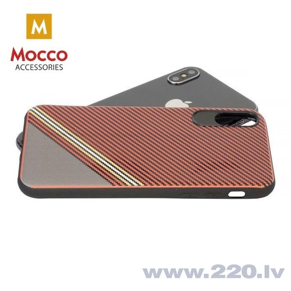 Aizsargmaciņš Mocco Trendy Grid And Stripes Silicone Back Case Samsung G955 Galaxy S8 Plus Red (Pattern 1) cena