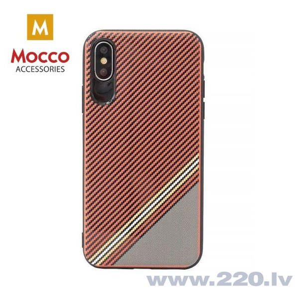 Aizsargmaciņš Mocco Trendy Grid And Stripes Silicone Back Case Samsung G955 Galaxy S8 Plus Red (Pattern 1)