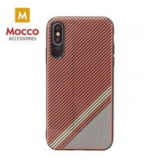 Aizsargmaciņš Mocco Trendy Grid And Stripes Silicone Back Case Apple iPhone X Red (Pattern 1)