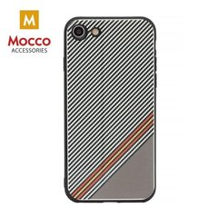 Aizsargmaciņš Mocco Trendy Grid And Stripes Silicone Back Case Apple iPhone 7 Plus / 8 Plus White (Pattern 1)