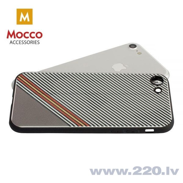 Aizsargmaciņš Mocco Trendy Grid And Stripes Silicone Back Case Apple iPhone X White (Pattern 1) cena