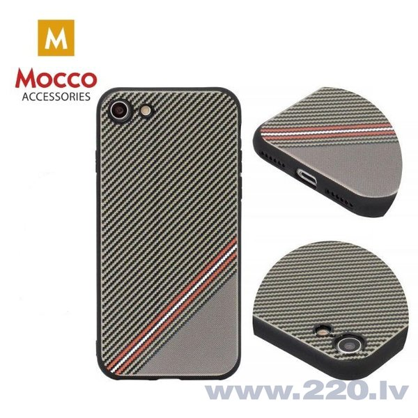 Aizsargmaciņš Mocco Trendy Grid And Stripes Silicone Back Case Samsung G955 Galaxy S8 Plus Brown (Pattern 1) internetā
