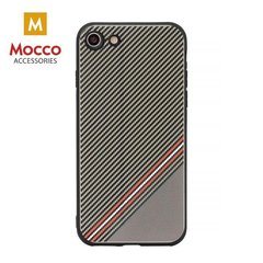 Aizsargmaciņš Mocco Trendy Grid And Stripes Silicone Back Case Apple iPhone X Brown (Pattern 1)