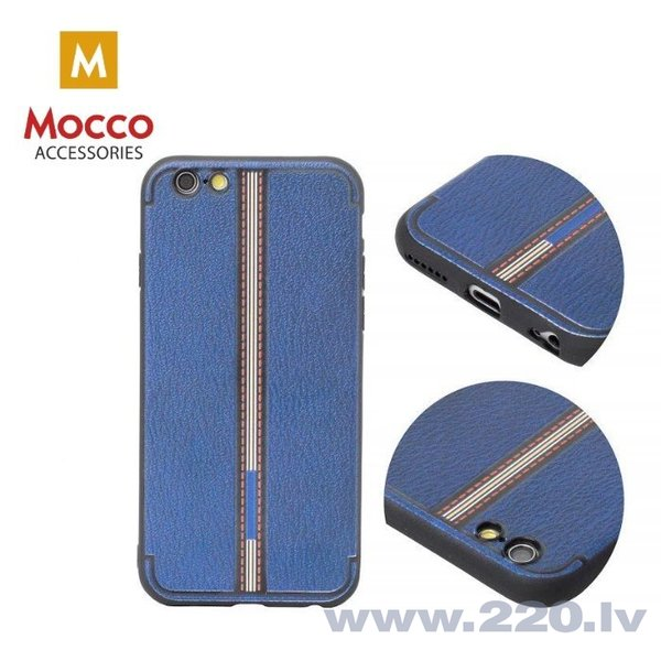 Aizsargmaciņš Mocco Trendy Grid And Stripes Silicone Back Case Samsung G950 Galaxy S8 Blue (Pattern 3) internetā