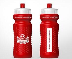 Sporta pudele ar Pasaules futbola čempionāta simbolu 700 ml, sarkana