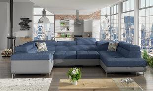 Universāls stūra dīvāns Letto, zils / pelēks