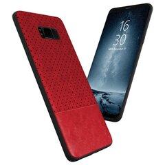 Aizsargmaciņš Qult Luxury Drop Back Case Silicone Case Samsung G965 Galaxy S9 Plus Red