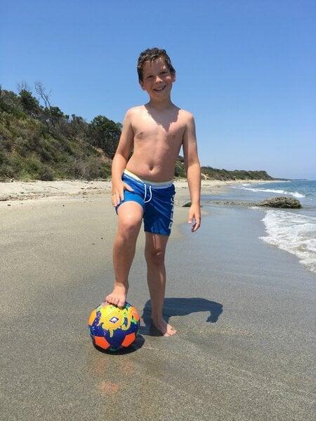 Pludmales futbola bumba Schildkrot Neoprene Beachsoccer, 21 cm