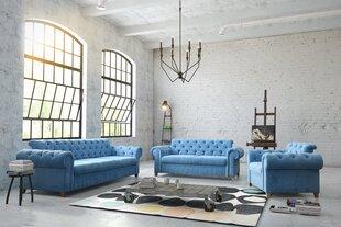 Krēsls Chesterfield Prince ES, zils cena un informācija | Atpūtas krēsli | 220.lv