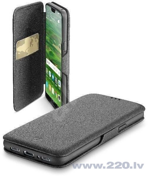 Aizsargmaciņš Huawei P20 Lite Case Book Clutch By Cellular Black