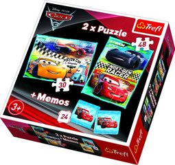 Комплект пазл + игра для развития памяти Trefl 3 in 1 Молния Маквин (Cars), 30+48 ч.