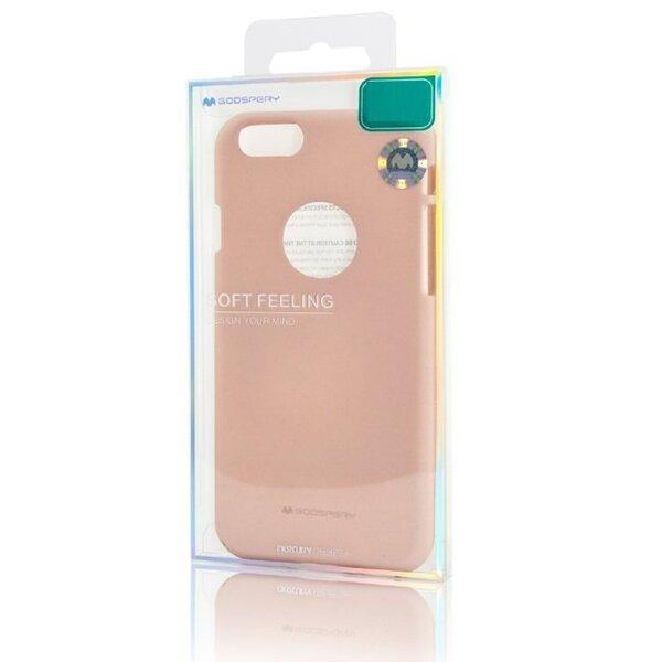 Aizsargvāciņš Mercury Soft feeling, piemērots Samsung A530F Galaxy A5 (2018) / A8 (2018) telefonam, rozā/smilšu krāsā lētāk