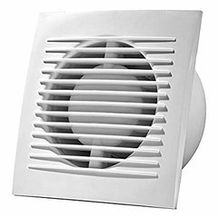 Elektrisks izplūdes ventilators ar vadu un auklu Europlast E-EXTRA EE125WP, Ø125 mm cena un informācija | Ventilatori vannas istabai | 220.lv