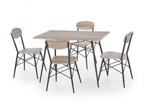 Комплект мебели для столовой Halmar Kabir 4, коричневый/черный цена и информация | Комплекты мебели для столовой | 220.lv