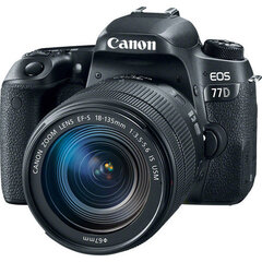 Canon EOS 77D + 18-135 mm IS USM набор
