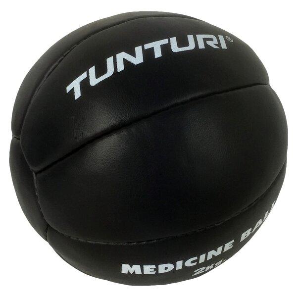 Ādas svaru bumba treniņiem Tunturi Medicine Ball 2 kg