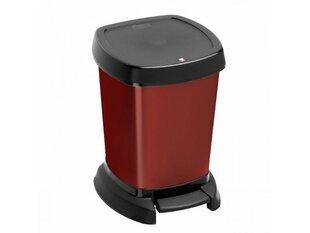 Atkritumu tvertne ar pedāli Rotho Paso, 6L, sarkana
