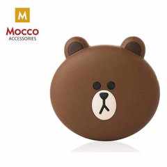 Mocco Emoji Bear Power Bank 2600mAh Universal Charger for devices 5V 1 A + Micro USB Cable White цена и информация | Внешние зарядные аккумуляторы (Power bank) | 220.lv